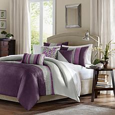 Madison Park Amherst Duvet Set Full/Queen Purple