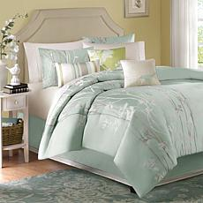 Madison Park Athena 7-Piece Comforter Set Green King