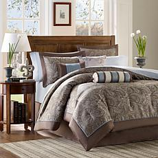 Madison Park Aubrey Comforter Set Queen Blue