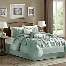 Madison Park Blue Laurel Comforter Set - King