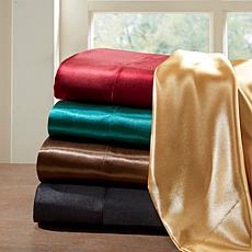 Madison Park Essentials Queen Teal Satin Wrinkle-Free 6pc Sheet Set