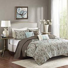 Madison Park Geneva 6-Piece Reversible Coverlet Set - King/Cal King