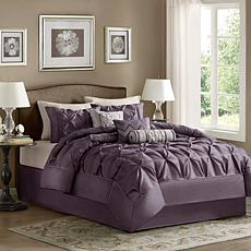 Madison Park Laurel Comforter Set King Plum