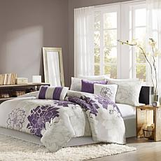 Madison Park Lola Comforter Set Cal King Gray/Purple