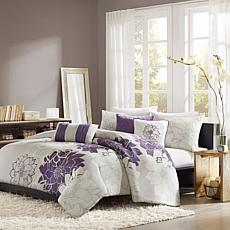 Madison Park Lola Duvet Set King Gray/Purple