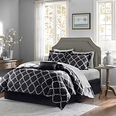 Madison Park Merritt 7pc Bedding Set - Twin/Black