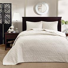 Madison Park Quebec Twin Quilted Bedspread Set - Ivory