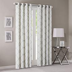 """Madison Park Saratoga Window Curtain - Ivory - 50"""" x 63"""""""