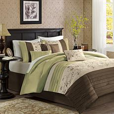 Madison Park Serene 7pc Comforter Set - King/Green