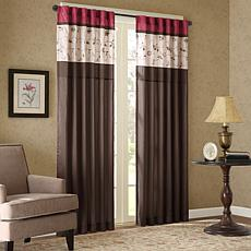 "Madison Park Serene Embroidered Window Panel Curtain - Red - 50"" x 84"""