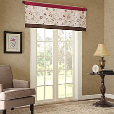 "Madison Park Serene Embroidered Window Valance - Red - 50"" x 18"""
