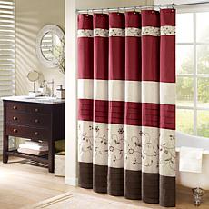 Madison Park Serene Polyester Shower Curtain - Red