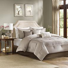 Madison Park Trinity 7pc Comforter Set - Queen/Taupe