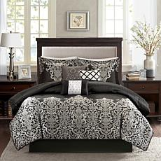 Madison Park Vanessa Black 7pc Comforter Set - Cal King