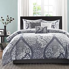 Madison Park Vienna Gray Comforter Set - King