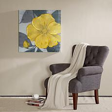Madison Park Yellow Bloom Hand Embellished Canvas
