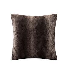 """Madison Park Zuri Faux Fur Square Pillow 20""""x20"""" -  Brown"""