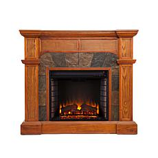 Malton Convertible Electric Fireplace - Mission Oak