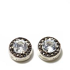 Marcasite and White Topaz Sterling Studs