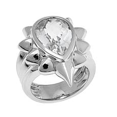 "Margo Manhattan 7.35ctw Faceted White Topaz ""Raya"" Ring"