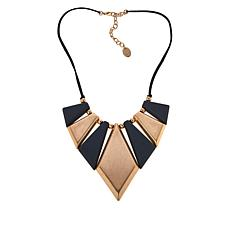 """MarlaWynne 19-1/4"""" Two-Tone Station Collar Necklace"""
