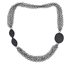 "MarlaWynne 42"" Multi-Row Chain-Link Station Necklace"