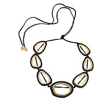 """MarlaWynne 60"""" Open Design Abstract Station Necklace"""