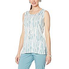 MarlaWynne Brushstroke Print Sweater Knit Tank