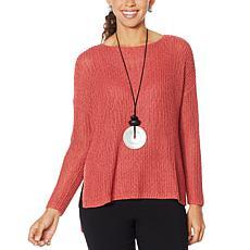 MarlaWynne Crimp Yarn Tunic Sweater