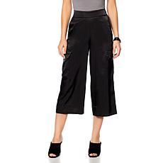 MarlaWynne Hammered Satin Cropped Pant