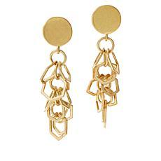 MarlaWynne Hexagon-Link Cluster Earrings