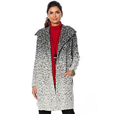 MarlaWynne Jacquard Coatigan with Pockets