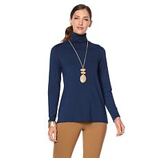 MarlaWynne Long Sleeve Turtleneck Butterfly Tee