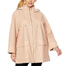 MarlaWynne Perforated Anorak Coat