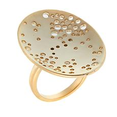 MarlaWynne Perforated Oval Disc Satin Ring