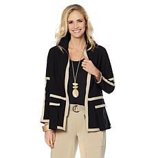 MarlaWynne Piped Bengaline Unstructured Jacket