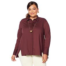 MarlaWynne Pleated Detail Butterfly Shirt