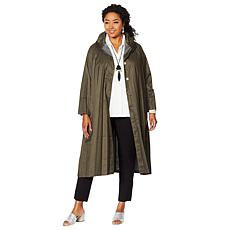 MarlaWynne Pleated Topper Coat with Snap Buttons