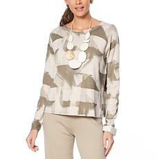 MarlaWynne Printed Box-Top Sweater