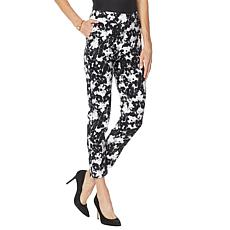 MarlaWynne Printed Stretch Twill Ankle Pant