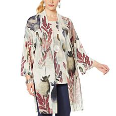 MarlaWynne Printed Wide Sleeves Cardigan