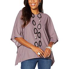 MarlaWynne Renfined Rib Poncho Top