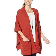 MarlaWynne Ribbed Stitch Oversized Cardigan