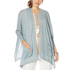 MarlaWynne Semi Sheer Yarn-Draped Cardigan