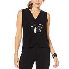 MarlaWynne Sleeveless Twist Top