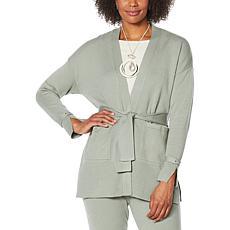 MarlaWynne SoftKNIT Easy Belted Cardigan