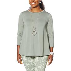 MarlaWynne Sorona Knit Butterfly Tee with Pockets