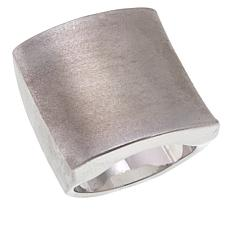 MarlaWynne Squared Brushed Metal Ring