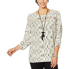 MarlaWynne Striated Box Sweater