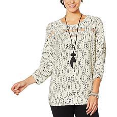 MarlaWynne Striated Box Sweater